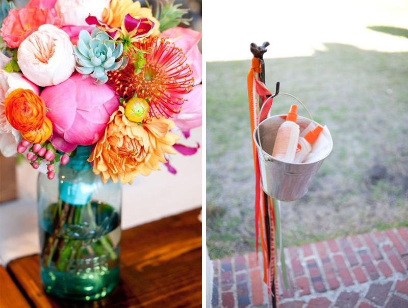 palm springs wedding // tropical wedding decor