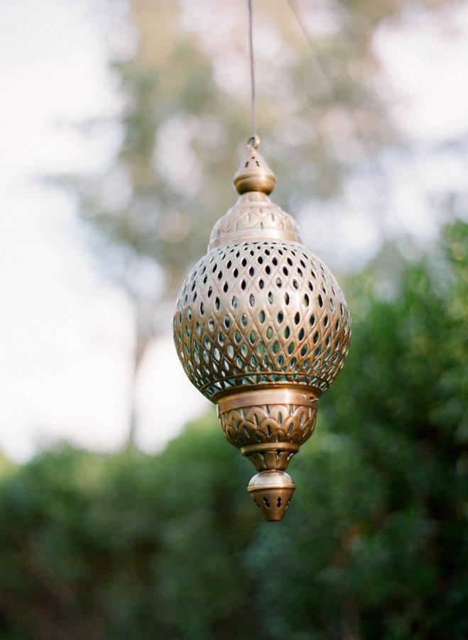 palm springs wedding // hanging lantern decor