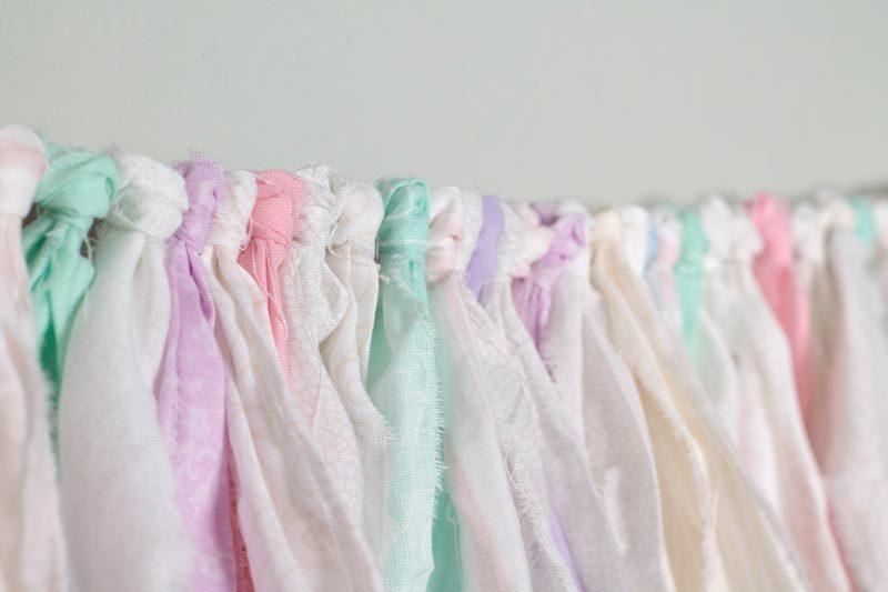 diy cloth garland knots