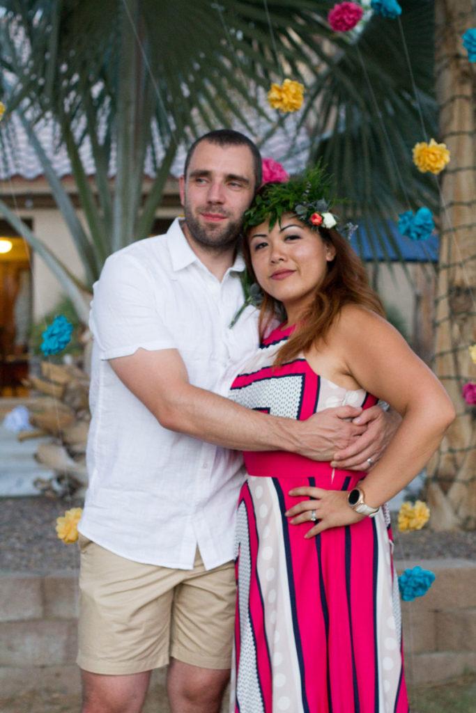 palm springs wedding // happy couple