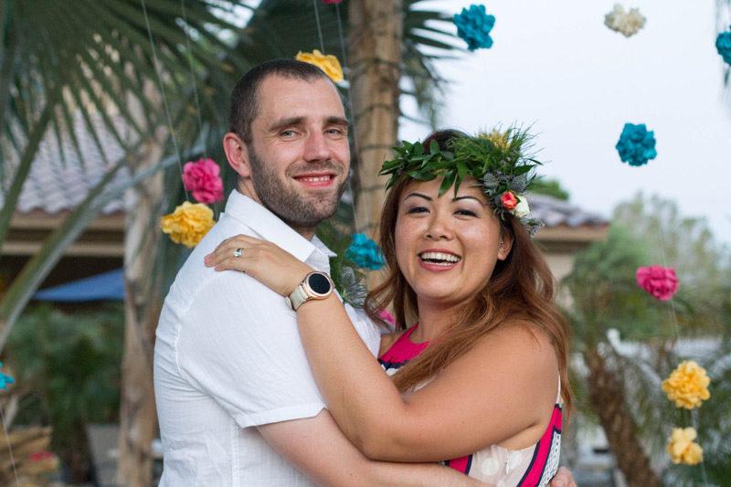 happy couple // palm springs wedding