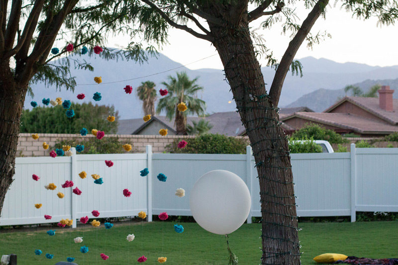 palm springs wedding decor
