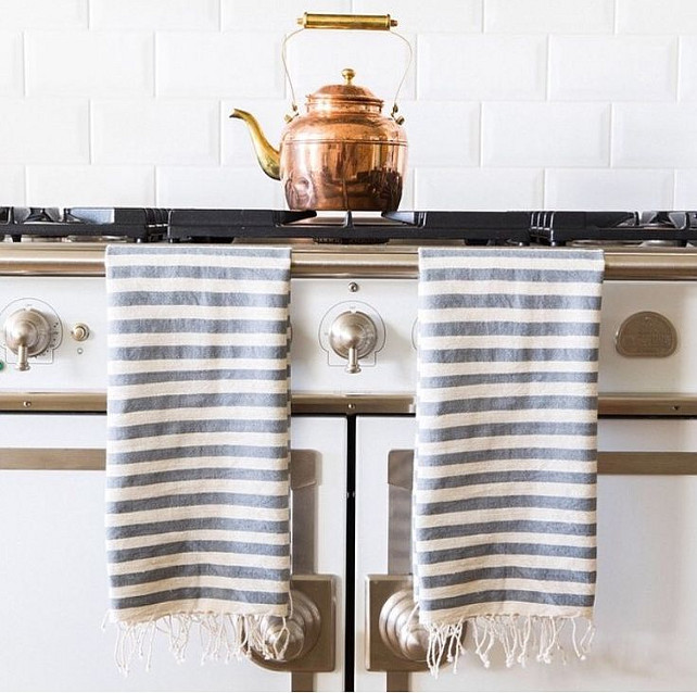 turkish towels // french kitchen