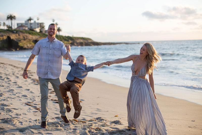 la jolla cove family beach session
