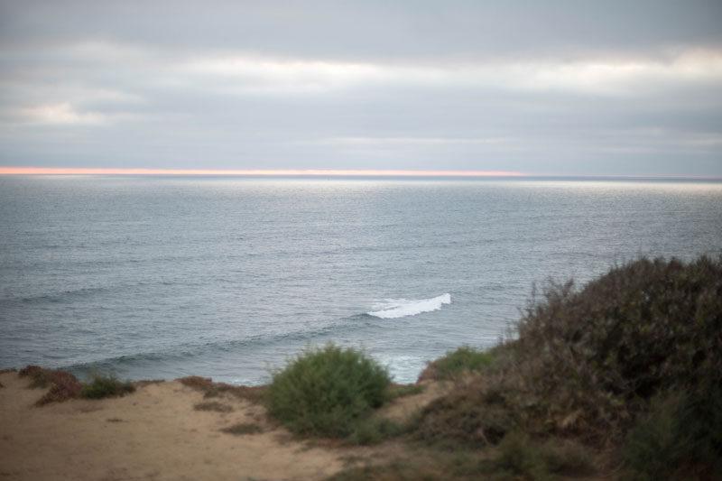 april // quiet beach