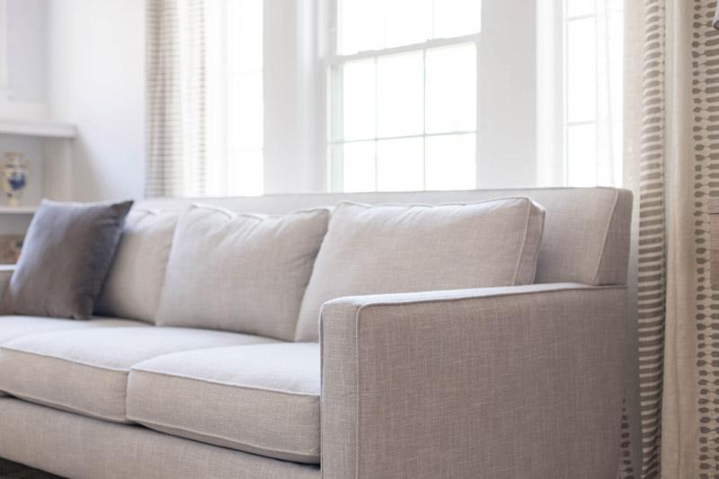 east coast craftsman living room sofa