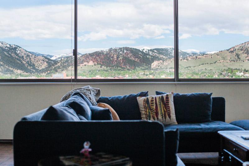 retro boulder apartment living room