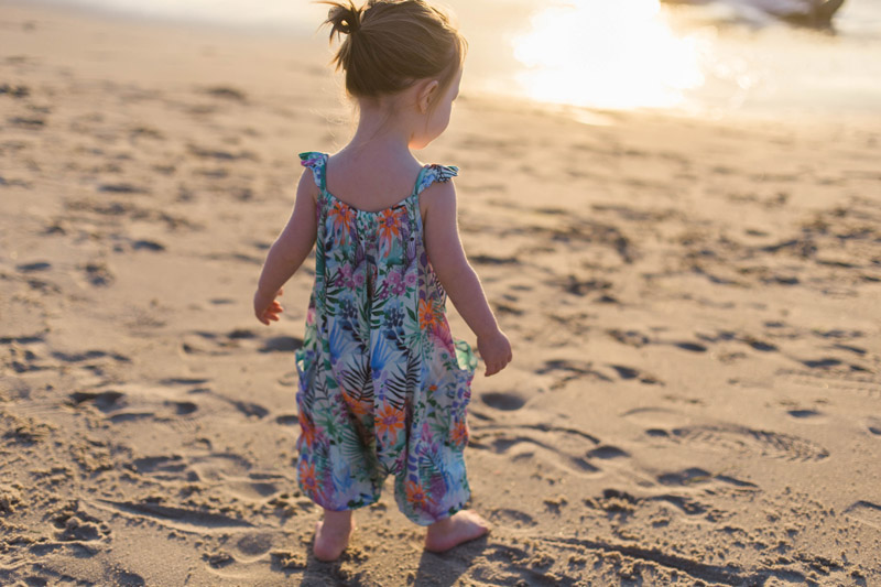 little girl's romper