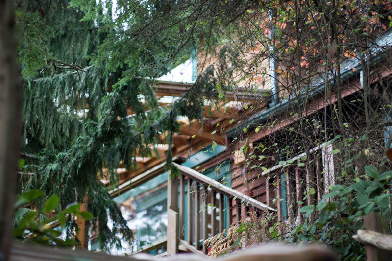 whidbey island airbnb // back deck